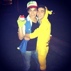 Ash and Pikachu | 30 Unconventional Two-Person Halloween Costumes