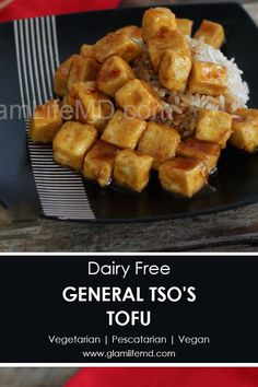 General Tso's Tofu will have you forgetting about the meat and devouring dinner! This tofu stirfry dinner is vegetarian. Get tofu ideas here and enjoy. General Tso Tofu, Best Lunch Recipes, Taiwanese Cuisine, Taiwan Food, Molecular Gastronomy, Food Presentation, Asian Recipes, Easy Recipes, Clean Eating Recipes