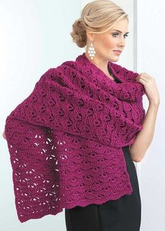 Shawls You'll Love - In Shawls You'll Love from Leisure Arts, beautiful stitch patterns make 13 shawls great additions to your wardrobe or wonderful choices for prayer shawl ministries or friendship gifts. Whether you prefer casual, comfy wraps or styles with timeless elegance, you'll find the perfect design in this collection! Each pattern echoes from the center to create matching ends or top and bottom edges. They're all easy to crochet using medium weight yarn, and our free online…