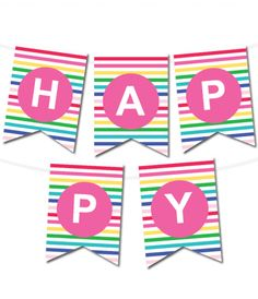 free printable happy birthday banner archives karen cookie jar