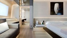 Master bedroom, Aslec 4 yacht by Remi Tessier _