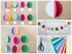 Bright Garland With Paper Balloons