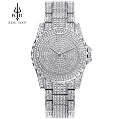KING HOON Silver Women Watches Luxury High Quality Water Resistant Montre  Femme Stainless Steel 2016 Dress 5a8434e6895