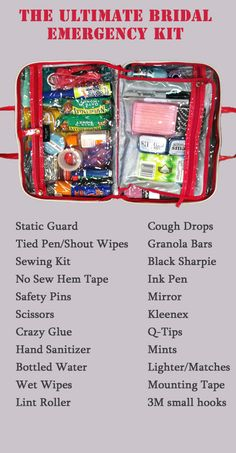 Totally making one of these wedding emergency kits...