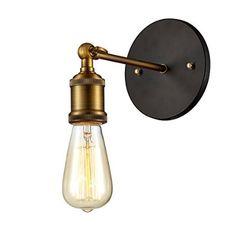 Ohr Lighting® Edison Vintage Light Sconce BULB INCLUDED, Antique Brass (ED268W)