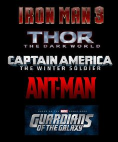 New Movies coming from Marvel!  and the Avengers sequel isn't coming out until 2015.  Sad.  And what's up with Ant Man?  I'm sure he's awesome and all but...Ant Man?