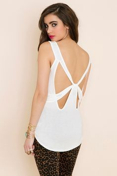 Nasty Gal Bow Down Tank