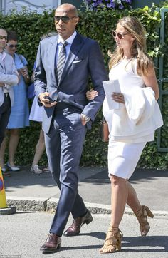 Picture perfect: Henry and his girlfriend Rajacic looked well-coordinated as they arrived ...
