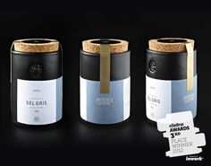 The Dieline Awards. Third Place Winner: Pfeffersack & Soehne. Entrant: Pfeffersack & Soehne    Country: Germany    Description: Pfeffersack & Soehne provides premium, mostly organic spices with a reference to the past.    The design combines handmade, embossed pottery with a decent visual language, humorous reminiscing the former hanseatic spice traders mocked 'Pfeffersaecke'.    Every can is unique due to the manufacturing process like every other part of the packaging.