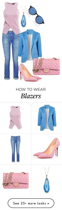 """""""Loving the world"""" by memilia-4 on Polyvore featuring rag & bone, Christian Louboutin, AX Paris, Chanel, Valerie Nahmani Designs and Oliver Peoples"""