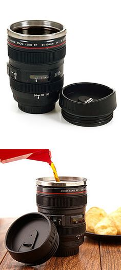Camera lens coffee mug - perfect gift for a photographer! #product_design
