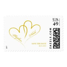 Two hearts intertwined Wedding Postage - love cards couple card ideas diy cyo