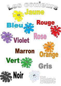 Les couleurs #french #francais