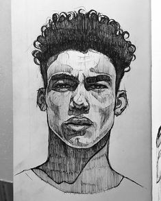 A great depiction of a determined young male almost any ethnicity - 캐릭터 디자인 - Art Sketches Pencil Art Drawings, Art Drawings Sketches, Drawings Of Men, Portrait Sketches, Portrait Art, Portraits, Arte Sketchbook, Aesthetic Art, Art Inspo