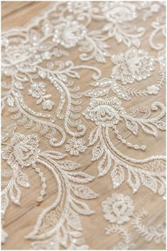 Soft floral lace fabric, wedding lace fabric, bridal lace, C Bridal Lace Fabric, Wedding Fabric, Wedding Lace, Wedding Dress, Beaded Lace Fabric, Embroidery Motifs, Beaded Embroidery, Embroidery Designs, Swatch