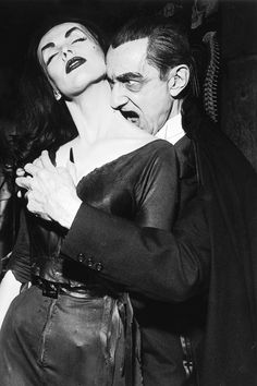 Vampira and Bela Lugosi on the Red Skelton show, 1950s