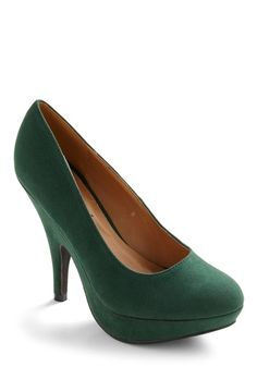 Green of the Crop Heel | Mod Retro Vintage Heels | ModCloth.com - StyleSays