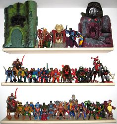 Motu aka Masters of the Universe figure collection..