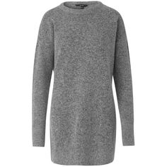Athens Forever Grey Wool Mix Jumper (330 ILS) ❤ liked on Polyvore featuring tops, sweaters, gray jumper, grey sweater, grey jumper, grey long sleeve sweater and jumpers sweaters
