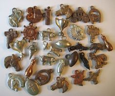 1940's-50's VINTAGE Metal GUMBALL CHARM Toy Prize Lot of 30 Great Mix | eBay