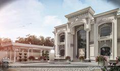 Home Exterior Stone - Jardines Exterior Planos - White Wash Brick Exterior - - Classic House Exterior, Classic House Design, Dream Home Design, Modern House Design, Café Exterior, Craftsman Exterior, Exterior Design, House Outside Design, House Front Design