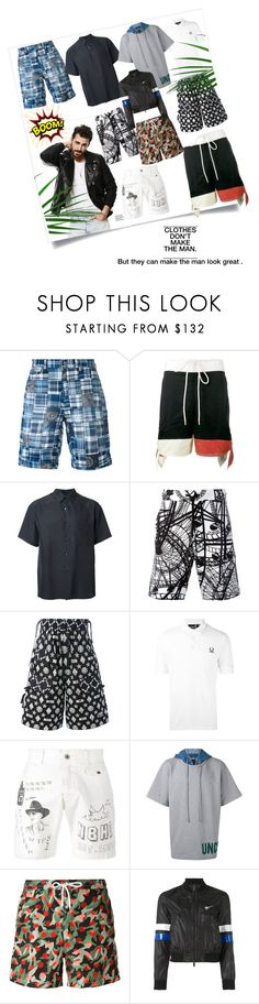 """""""Summer Time.."""" by lalu-papa ❤ liked on Polyvore featuring Polo Ralph Lauren, H Beauty&Youth, Love Moschino, KTZ, Fred Perry, Neighborhood, Juun.j, Kiton, Haus by Golden Goose and men's fashion"""