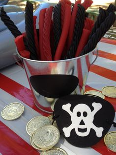 The Busy Bee: Pirate Themed Birthday Party Ideas for Boys Pirate Baby, Pirate Kids, Pirate Birthday, 3rd Birthday Parties, Boy Birthday, Birthday Ideas, Pirate Food, Pirate Theme, Caribbean Party