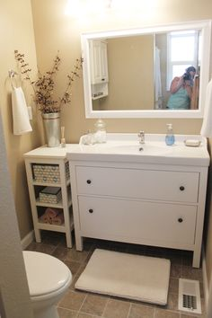 bebe a la mode designs: Master Bath with lots of Ikea components