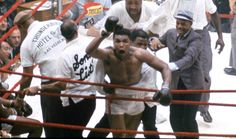 Muhammad Ali reacts to the crowd during his fight against Sonny Liston in Miami Beach, Fla. Description from pinterest.com. I searched for this on bing.com/images