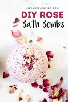 This is the BEST rose petal DIY bath bomb recipe! So pretty and it's made with ingredients your skin Best Bath Bombs, Natural Bath Bombs, Diy Bath Bombs, Shower Bombs, Bath Bomb Recipes, Soap Recipes, Bombe Recipe, Homemade Bath Bombs, Dental