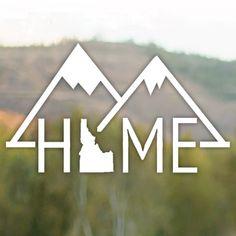 Vinyl Decal  Idaho Mountain Home Sticker by Teiesi on Etsy