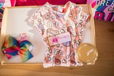 This Colorful JoJo Siwa Sleepover Birthday Party will have any girl jumping for joy. Get ideas for JoJo Siwa decorations, party supplies, favors, and more! Slumber Party Favors, Sleepover Birthday Parties, Birthday Party Themes, Jojo Siwa Birthday Cake, Birthday Cookies, Girl Birthday, Jojo Bows, Custom Chocolate, Glitter Cups