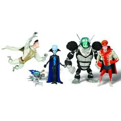 Get it now GET IT NOW! Megamind Movie Exclusive Mini Action Figure Collection 5 Pack - Tighten, Metro Man, Megamind, Brainbot, Minion