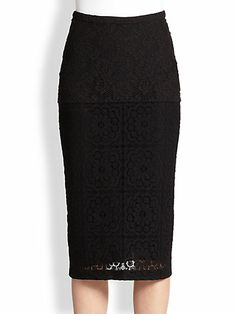 Burberry Prorsum - Crochet-Lace Pencil Skirt - Saks.com