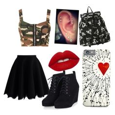 """Untitled #108"" by steamynightmare on Polyvore featuring Chicwish, WearAll, Lime Crime, women's clothing, women, female, woman, misses and juniors"