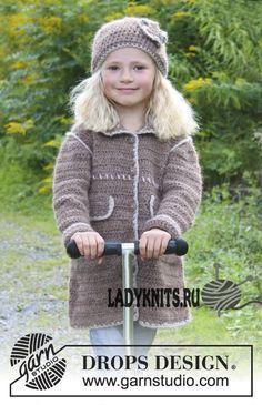 Вязаные пальто и кардиганы для девочек