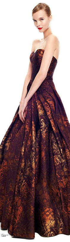 Zac Posen Pre-Fall 2014, Floral Jacquard Gown: I wish I were in a position where I got to wear beautiful dresses http://www.wedding-dressuk.co.uk/prom-dresses-uk63_1