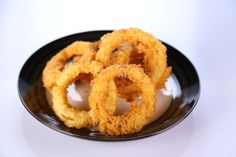 Clinton Kelly's Onion Rings #the chew  Sub rice flour with cake or low-gluten flour.