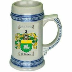 Quinn Family Coat of Arms | quinn Family Crest Stein / Coat of Arms beer mug