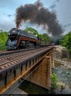 RailPictures.Net Photo: NW 611 Norfolk & Western Steam 4-8-4 at Wabun (Singer), Virginia by Kevin Burkholder