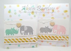 Stampin' Up! Zoo Babies - CASEing the Catty. Looks simple enough to make a few!