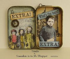 Somewhere to be Me : A New Blog on the Block & My Altered Tin.