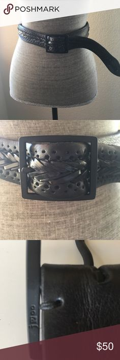 John Varvatos Black Leather Belt NWOT John Varvatos Black Leather Belt NWOT, measures 38.5 inches end by end. 1.5 inches width, purchased in men's store but never wore. Message me with any questions. NO TRADES NO PAYPAL John Varvatos Accessories Belts