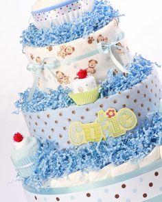 cupcake with diaper cake