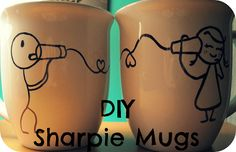 DIY Sharpie Mugs Tutorial! Great for gifting, fun and easy craft!