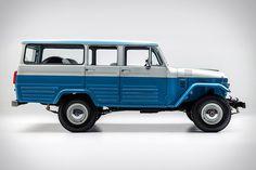 1967 Toyota Land Cruiser Capri Blue: The Dignity of a Legend Toyota Land Cruiser, Fj Cruiser, Toyota Lc, Toyota Trucks, Toyota 4runner, Ford Trucks, Pickup Trucks, Carros Toyota, Chrysler Airflow