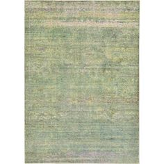 Turkish Aria Green Polypropylene Rug (6' x 8' 11)