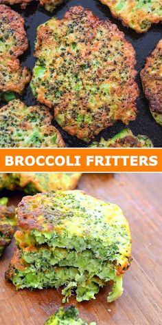 Best Vegetarian Recipes, Lunch Recipes, Healthy Recipes, Vegetarian Food, Healthy Meals, Yummy Recipes, How To Make Broccoli, Broccoli Fritters, Food Videos
