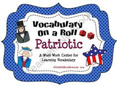 Your students will love this Patriotic themed vocabulary center! A perfect complement to your holiday themed activities.