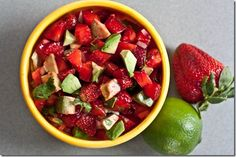 Salt & Lime Chips with Strawberry Avocado Salsa!